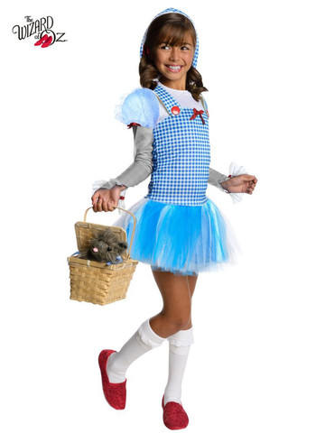 Girls Wizard Of Oz Dorothy Tutu Costume