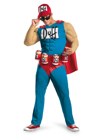 Simpsons Duffman Classic Muscle Men's Costume