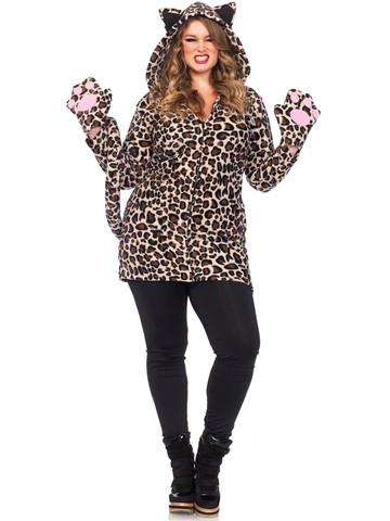 Women's Sexy Cozy Leopard Plus Costume
